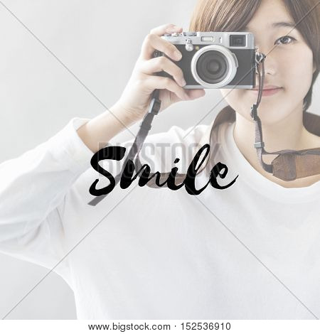 Be happy Smile Slow Life Enjoy Concept