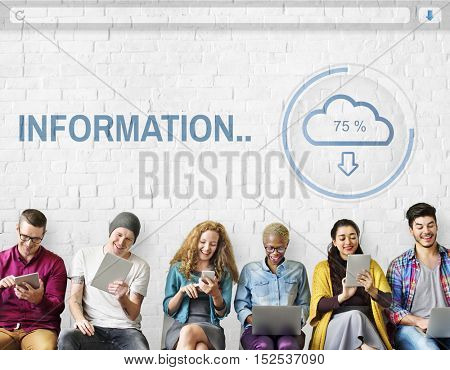 Information The Cloud Storage Data Concept
