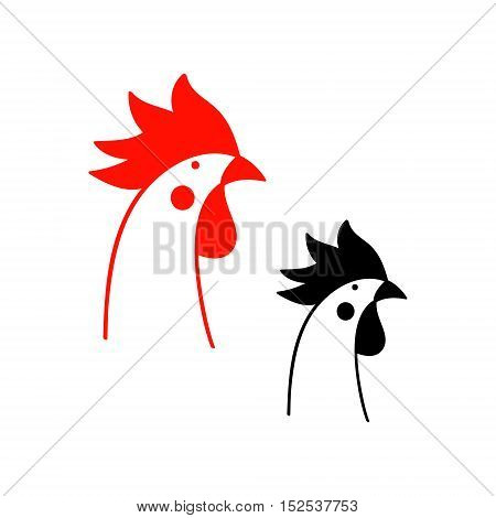 The head of the on white background. Vector illustration