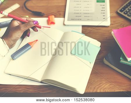 Idea Note Planning Professional Searching Concept