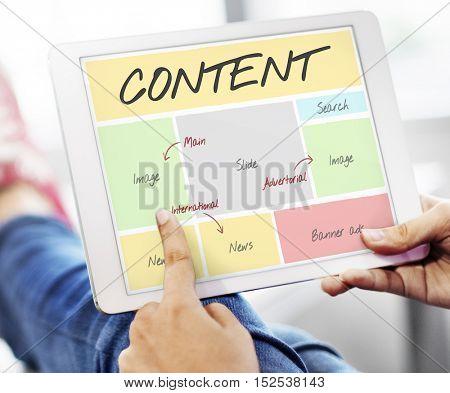 Content Website Web Design Concept
