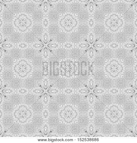 Black White Seamless Wallpaper. Vintage Pattern. Retro Background