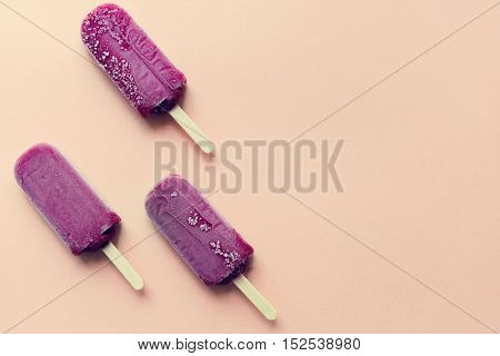Ice Pop Flavored Ice Frozen Dessert Sweet Tasty Concept