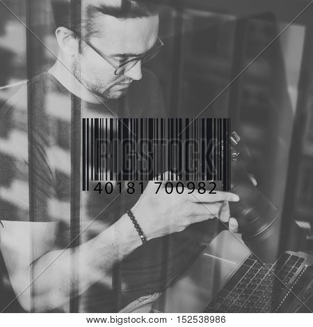 Bar Code Encoding Decode Shopping Coding Concept