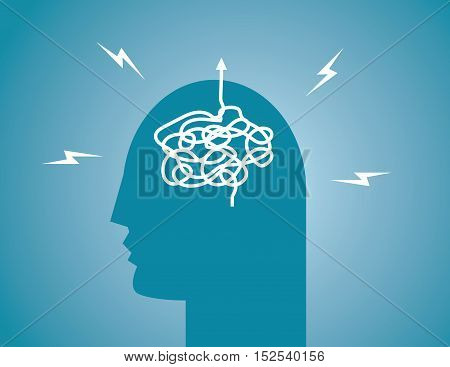 Human head Direction. Business concept illustration. Vector flat