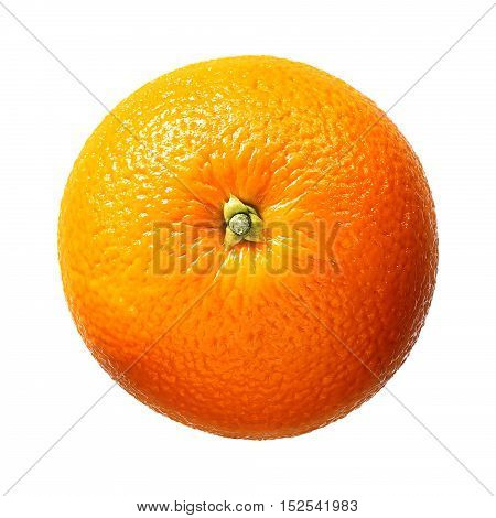 Fresh orange fruit isolated on white background. With clipping path.