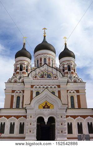 St. Aleksander Nevsky´s Cathedral in Tallinn (Estonia) subordinated to the Patriarch of Moscow and All Russia.
