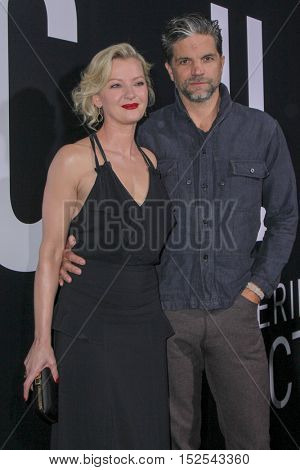 LOS ANGELES - OCT 17:  Gretchen Mol, Tod Williams at the Hulu Chance Premiere at Harmony Gold Theater on October 17, 2016 in Los Angeles, CA
