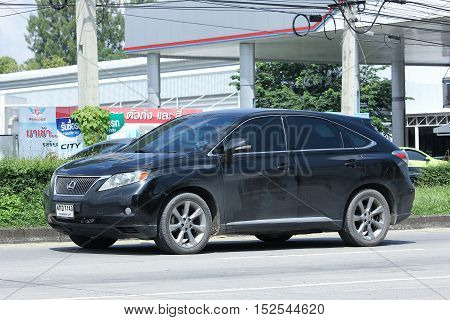 CHIANGMAI THAILAND - OCTOBER 6 2016: Private Suv car Lexus RX300. On road no.1001 8 km from Chiangmai city.
