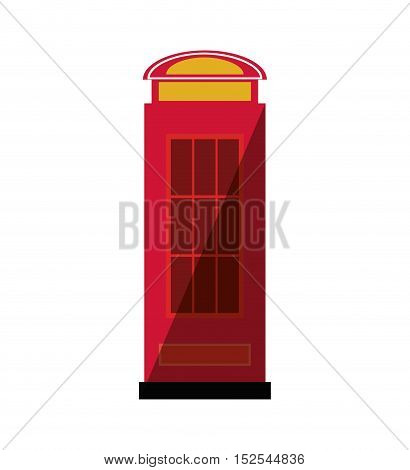 telephone cab england isolated icon vector illustration design