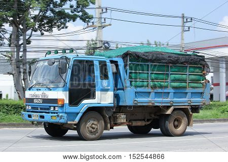CHIANGMAI THAILAND - OCTOBER 6 2016: Truck of Thailand Land Development Department. Photo at road no.121 about 8 km from downtown Chiangmai thailand.