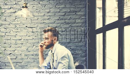Businessman Laptop Planning Strategy Working Concept