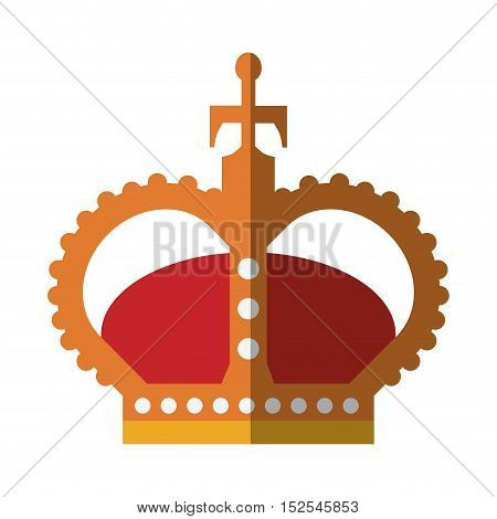 English crown isolated icon vector illustration design