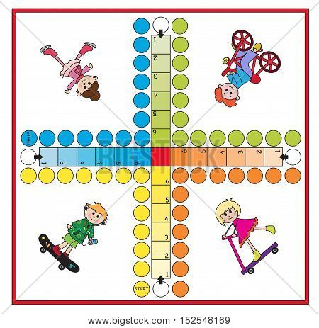 Board game for children - each player has four pieces.