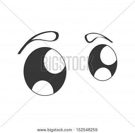cute eyes cartoon isolated icon vector illustration design