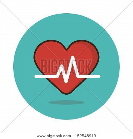 Blood pressure flat icon. Medical vector eps 10