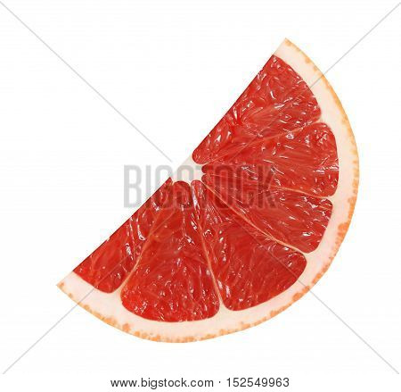 cut grapefruit fruits isolated on white background with clipping path