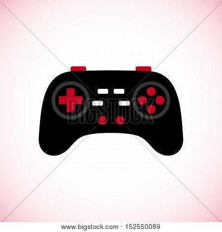Joystick icon in flat style isolated on white background. Vector illustration.