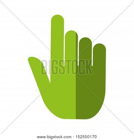 hand human pointer index vector illustration design