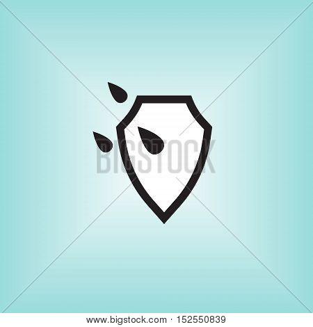 Waterproof vector icon. Isolated waterproof vector sign. Water proof vector logo.