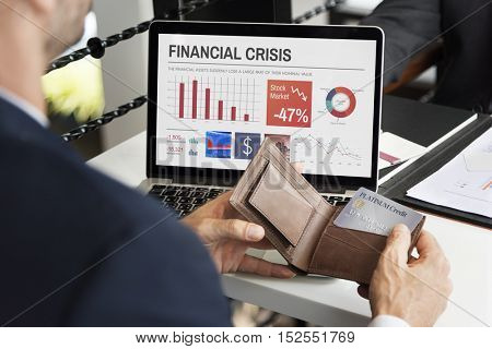 Business Man Paying Credit Card Concept