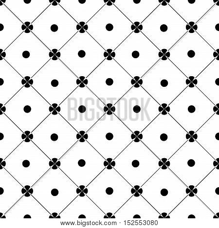 Flower and circle seamless pattern. Fashion graphic background design. Modern stylish abstract texture. Monochrome template for prints textiles wrapping wallpaper website etc. VECTOR illustration
