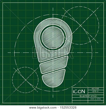 Vector blueprint newborn icon . Engineer and architect background.