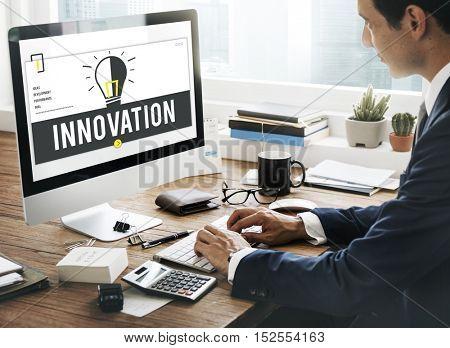 Innovation Development Ideas Bulb Concept