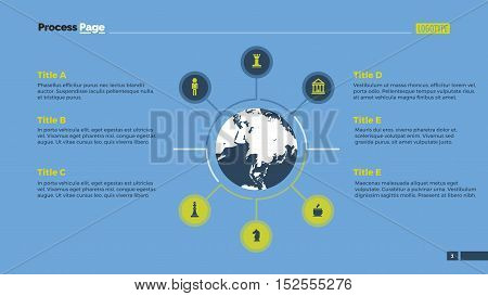 Business infographic diagram with six circles. Element of presentation, diagram, project. Concept for infographics, business templates, reports. Can be used for topics like strategy, workflow