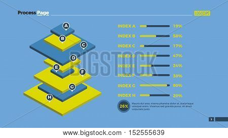 Rectangular pyramid chart. Element of presentation, diagram, chart. Concept for infographics, business templates, reports. Can be used for topics like marketing analysis, business data, finance