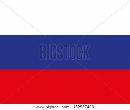 Official Flag of Russia. Flat. Vector Illustration