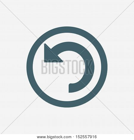 refund icon. return vector icon isolated on white background