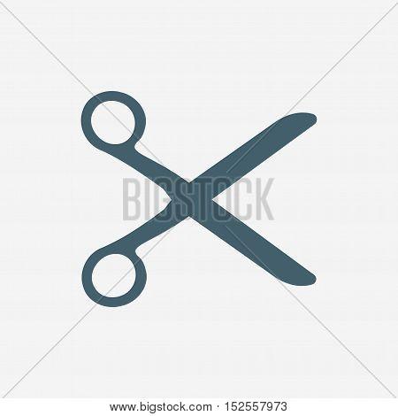 scissor vector icon isolated on white background