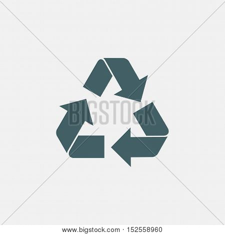 recycle vector icon isolated on white background