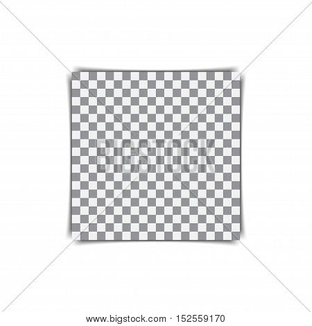 Photo frame retro with shadow and transparent background inside