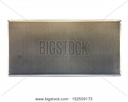 Engine cooling radiator isolated on white with clipping path