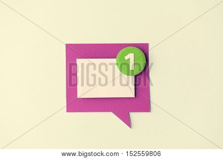 Message Chat Communication Technology Note Concept