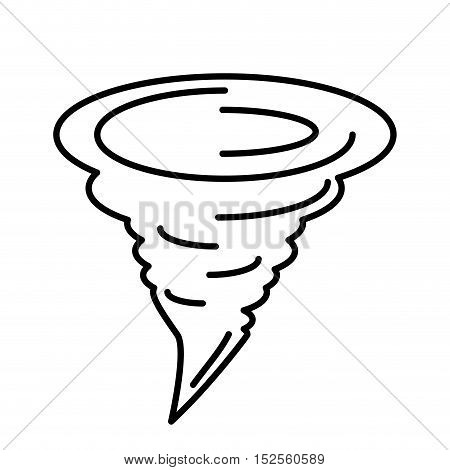 twister climate symbol isolated icon vector illustration design