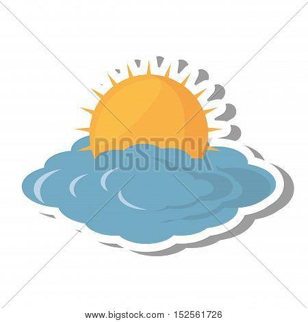 cloud climate concept isolate icon vector illustration design