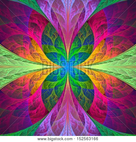 Multicolored fabulous fractal pattern computer generated image