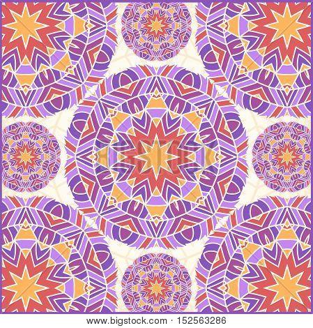 Vintage decorative elements. Islam, Arabic, Indian, ottoman motifs. Stylized flowers. Ethnic ornaments. Vintage decorative elements. Flower circular background. Round Ornament Pattern.