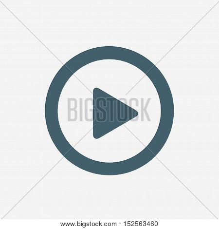 video play vector icon isolated on white background