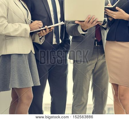 Business Team Working Research Planning Concept