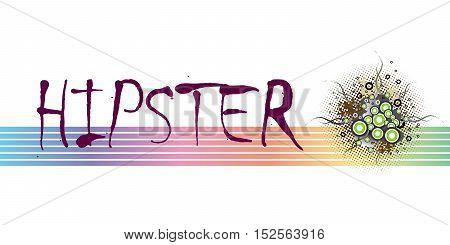 Hipster frame design. Floral grunge elements. EPS10 vector illustration.