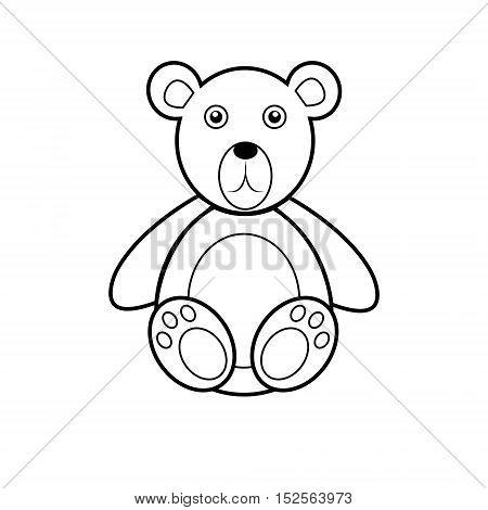 Bear on a light background. Teddy bear icon
