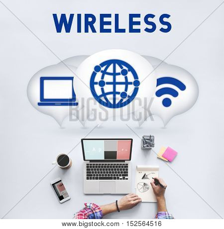 Internet Wireless Connection Icons Concept