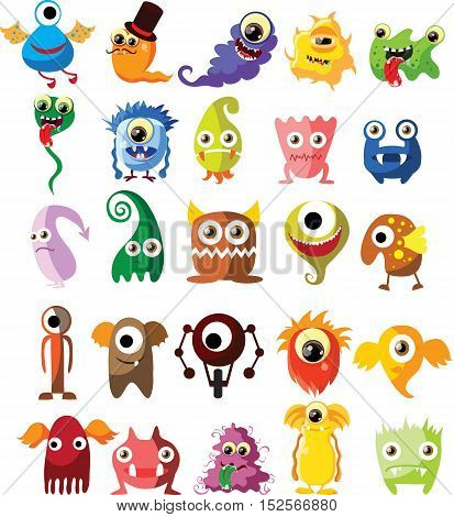 Cartoon cute monsters,illustration picture for your design