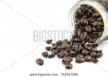close up coffee on the white  background