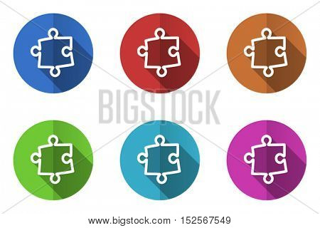 Puzzle flat vector icon