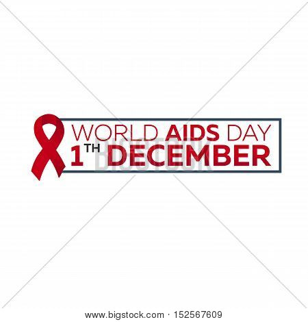 World Aids Day 1 December. Aids Awareness. Vector Illustration.